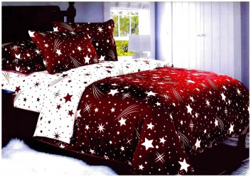 Dupla Ágyneműhuzat - Hullócsillag - Piros 232279fd26